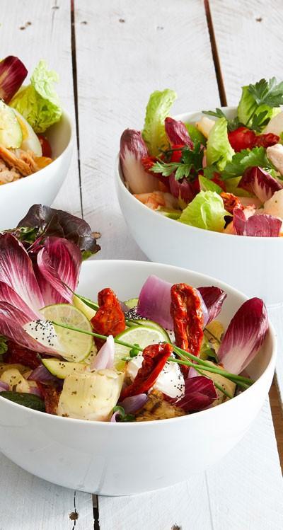 Les salades à partager